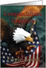 Eagle Scout~Grandson, Eagle  & U. S. Flag