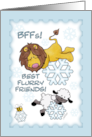 Christmas Greetings-Lion and Lamb-BFF Snowflakes