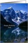 Happy Birthday Dad Rocky Mountains Lake Reflection