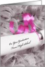 Girly High School Graduation Congratulations With Pink Ribbon