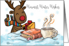 Christmas Reindeer, With Book Hot Chocolate And Gift, Greetings