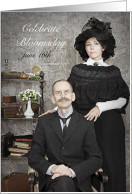 Bloomsday June 16th Victorian Couple Invitation card