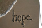 hope - beach & sand card