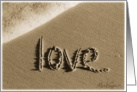Valentine's Day - I Love You Beach & Sand card