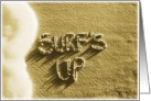 surfs up - beach & sand card