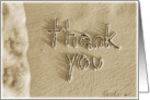 Thank You Beach Sand & Surf Writing card