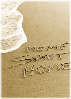 Home Sweet Home Beach Sand Moving Announcement Card Greeting Card