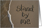 stand by me - beach & sand card