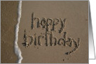 happy birthday - beach & sand card