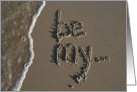 be my... - beach & sand card