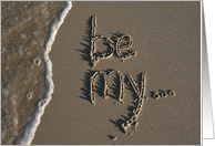 be my bridesmaid beach sand & surf card