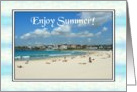 Seasons - Summer, Beach Scene card