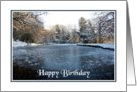 Birthday - Lake In Winter card