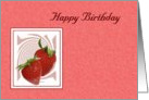 Birthday - Strawberry Swirl card