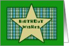 Birthday - Star card