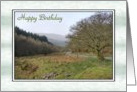 Birthday - Welsh Landscape card