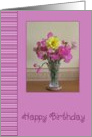 Birthday - Vase Of Flowers card