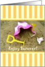 Seasons - Summer, Bucket & Spade card