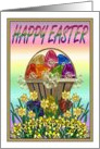 Easter - Egg Basket & Daffodils card
