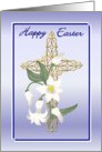Easter - Cross & Lilies card