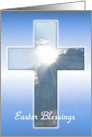 Easter - Sunrays In Cross card