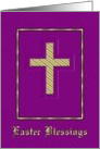 Easter - Golden Cross card