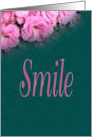 Smile, Pink Blooms, blank note cards