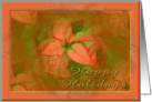 Happy Holidays....Christmas Poinsettias card