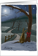 Winter Bunny Solstice card