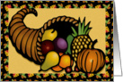 Thanksgiving Cornucopia card