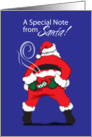 Note from Santa card