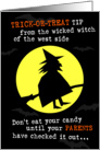 Trick or Treat Tip card
