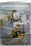 Retirement Wishes Military Service Marine Army Navy Air Forces Soldier Support Our Troops card