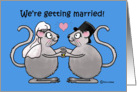 Wedding Announcement Marriage Whimsical Mice Mouse Couple Love card