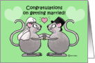 Congratulations Getting Married Whimsical Mice Couple Mouse Heat Love card