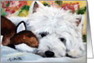 Westie West Highland Terrier Dog -The Fox and the Hound card