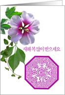 korean New Year card with rose of Sharon card
