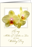 lemon orchids groom's parents card
