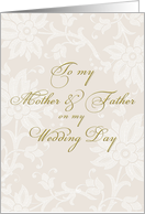 to mother father on my wedding day, elegant card