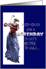 lady golfer birthday card