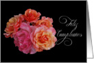 feliz cumpleanos spanish birthday roses card