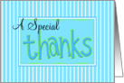 a special thanks card