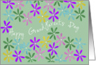 grandparents day graphic flowers card