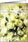 wedding Congratulations Greek white roses card
