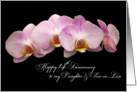 pink orchids 14th anniversary for daughter and son-in-law card
