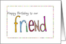 happy birthday to our friend card