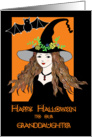 happy halloween our granddaughter witch card
