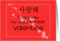 Cute Korean VAlentine card