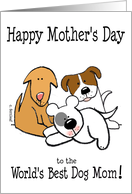 Happy Mother's Day, World's Best Dog Mom card