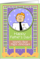Happy Father's Day, Flight Attendant, Male card